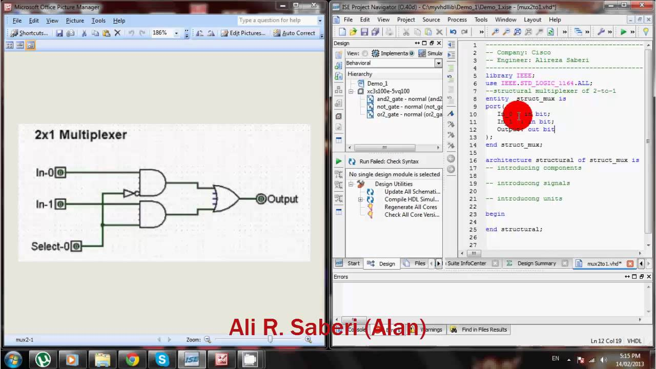 Vhdl code for 8 to 1 multiplexer using structural modelling installer