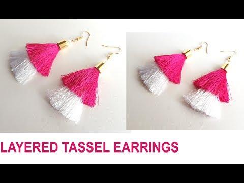 Tassel earrings | How to make Silk Thread Tassel earrings at home | step by step Tassel earrigs