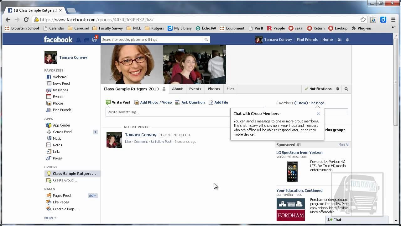 Create a Facebook Group