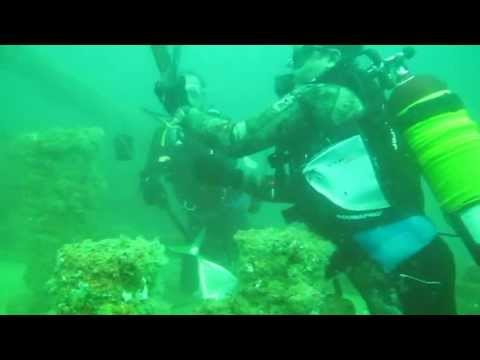 Diving in tuner ship / Al Jazeera Dive center, Rasalkhaimah , U.A.E