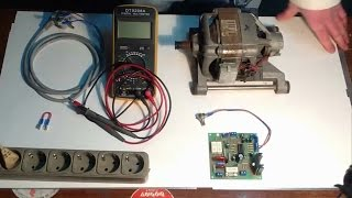 видео Как проверить двигатель стиральной машины (коллекторный)