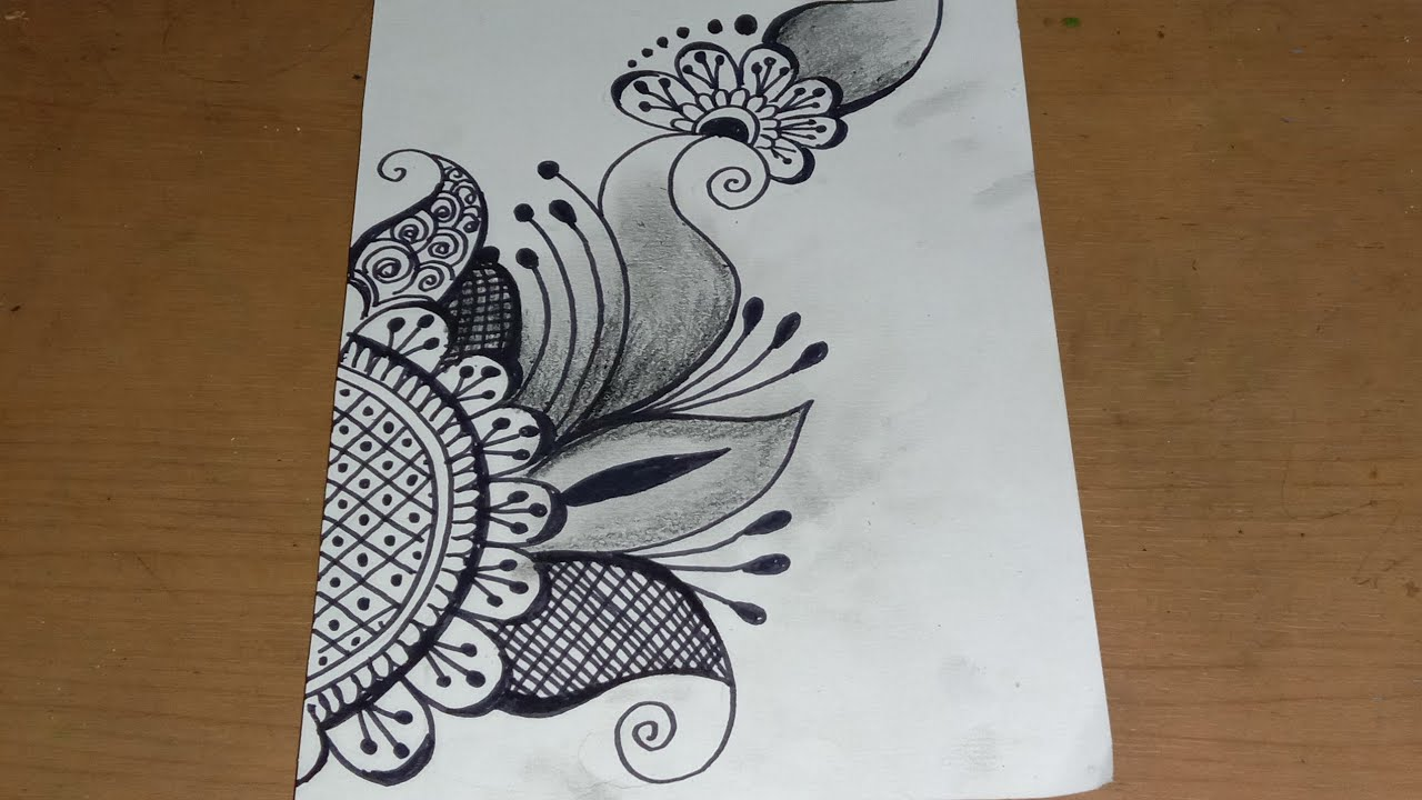 Desain Henna Mehdy sangat mudah untuk pemula