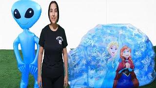 Balon Uzaylı Oyunu Komik خافت من الكائن الفضائي