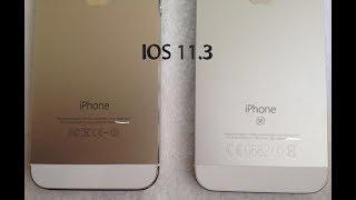 Iphone SE  ios 11.3 vs Iphone 5S ios 11.3 #benchmark# test performance
