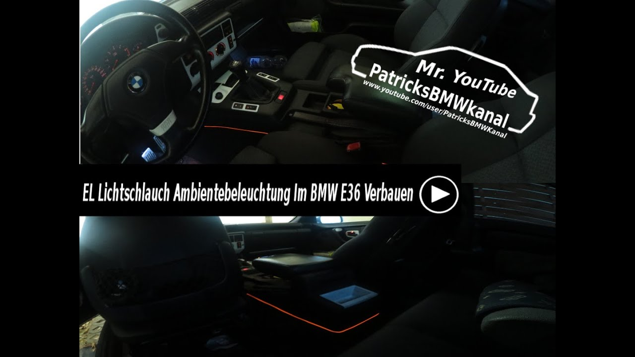 el lichtschlauch ambientebeleuchtung im bmw e36 verbauen youtube. Black Bedroom Furniture Sets. Home Design Ideas