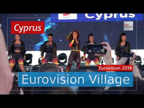 Eleni Foureira (Cyprus) - Fuego (LIVE @ Eurovision Village) Eurovision 2018