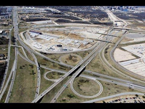 Old Texas Stadium Site In Irving, Aerial Video