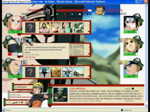 Web Browser Game Review:Naruto-Arena Copy with Kakashi(S)