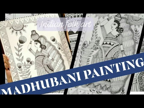 Inspired Madhubani Painting| recreate madhubani painting|Inspired by Maithili Thakur|Indian folk art