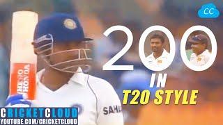 Sehwag 200 in T20 Style   India vs Sri Lanka 2008 !!