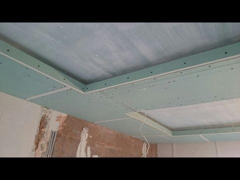 Как сделать нишу для подсветки на потолке из гипсокартона