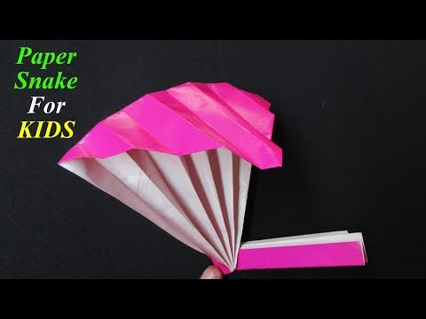 DIY | How To Make Paper Snake  Origami For Kids