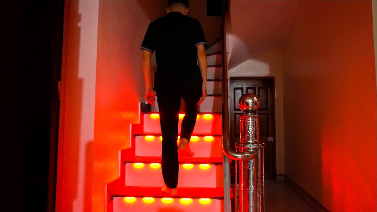How to Make Stairs light Automatically light up each ladder