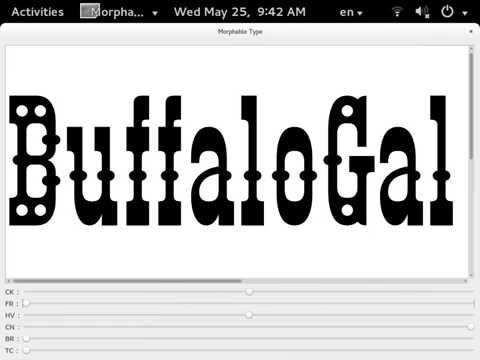 BuffaloGal TrueType GX variation-font