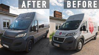 Finalizing Van's Exterior Look & Cutting Windows / Campervan Conversion in Europe (Ep. 4)