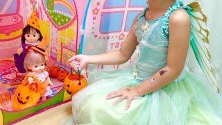 メルちゃんとぽぽちゃんのお家に ハロウィン に行きました。 妖精の衣装...