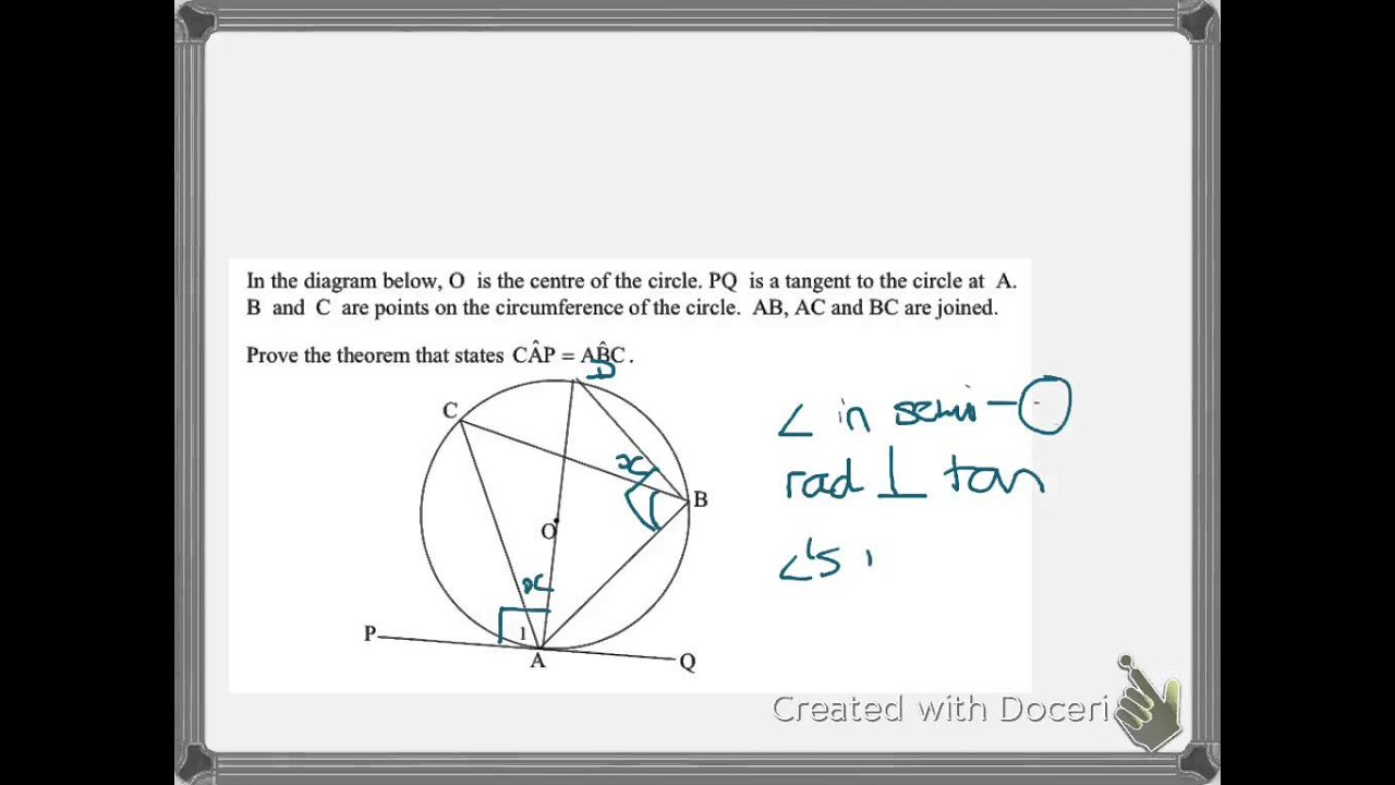 Proof of tan chord theorem youtube proof of tan chord theorem hexwebz Choice Image