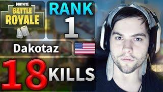 BEST GAME Dakotaz 18 Kills Solo Game #25 (Fortnite Highlights)
