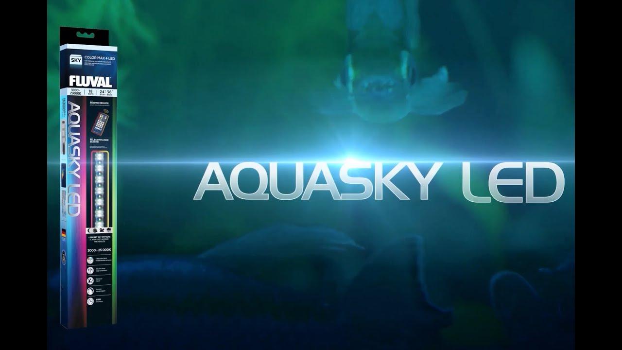 fluval aquasky aquarium led youtube. Black Bedroom Furniture Sets. Home Design Ideas