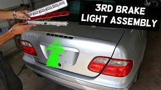 MERCEDES CLK W208 THIRD BRAKE LIGHT ASSEMBLY REMOVAL REPLACEMENT CLK320 CLK430 CLK200 CLK230