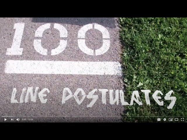 LINE POSTULATES