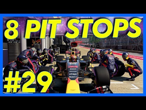F1 2017 Career Mode : 8 PIT STOPS!! (Part 29)
