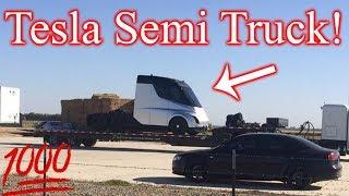 Tesla Semi First Look!! Tesla News!