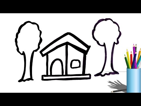 how-to-draw-and-coloring-house-and-tree-for-kids-|-learning-drawing-for-kids