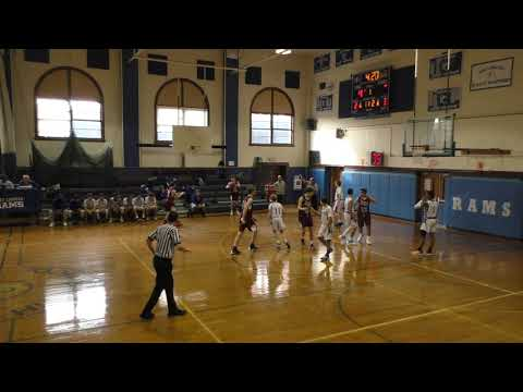 Port Chester Rams JV basketball team vs Albertus Magnus High School