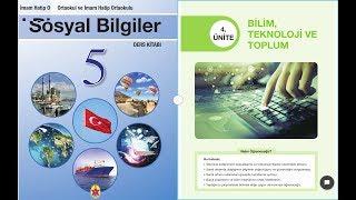 5.SINIF SOSYAL BİLGİLER 4.ÜNİTE BİLİM, TEKNOLOJİ VE TOPLUM.