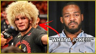 JON JONES WILL NEVER ARGUE WITH KHABIB AFTER THIS
