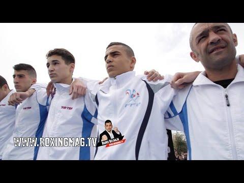 """Boxe olympique Cadets, Juniors FRANCE / ESPAGNE en plein air """"BOXE 85"""""""
