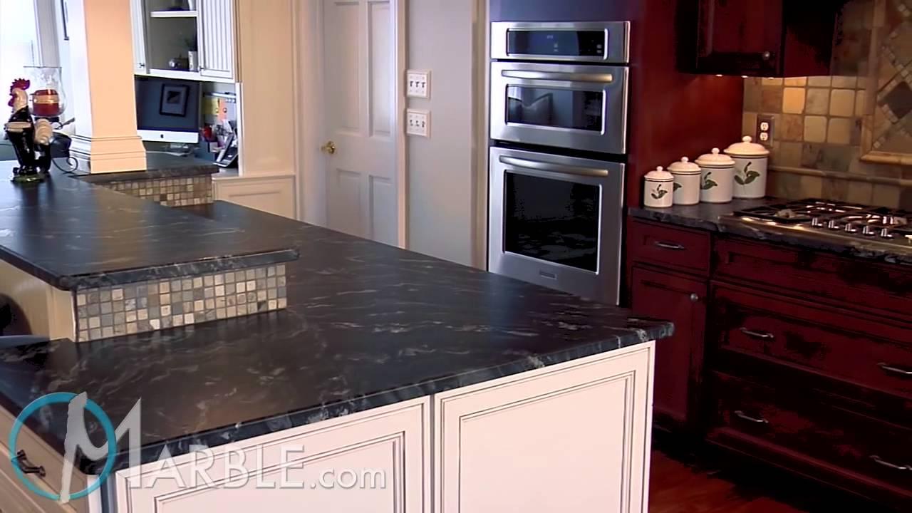 Oscuro Mist Satin Granite Kitchen