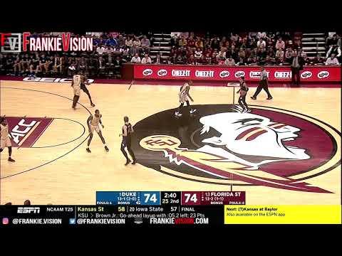 Duke vs Florida State | Full Game Highlights | 1.12.19