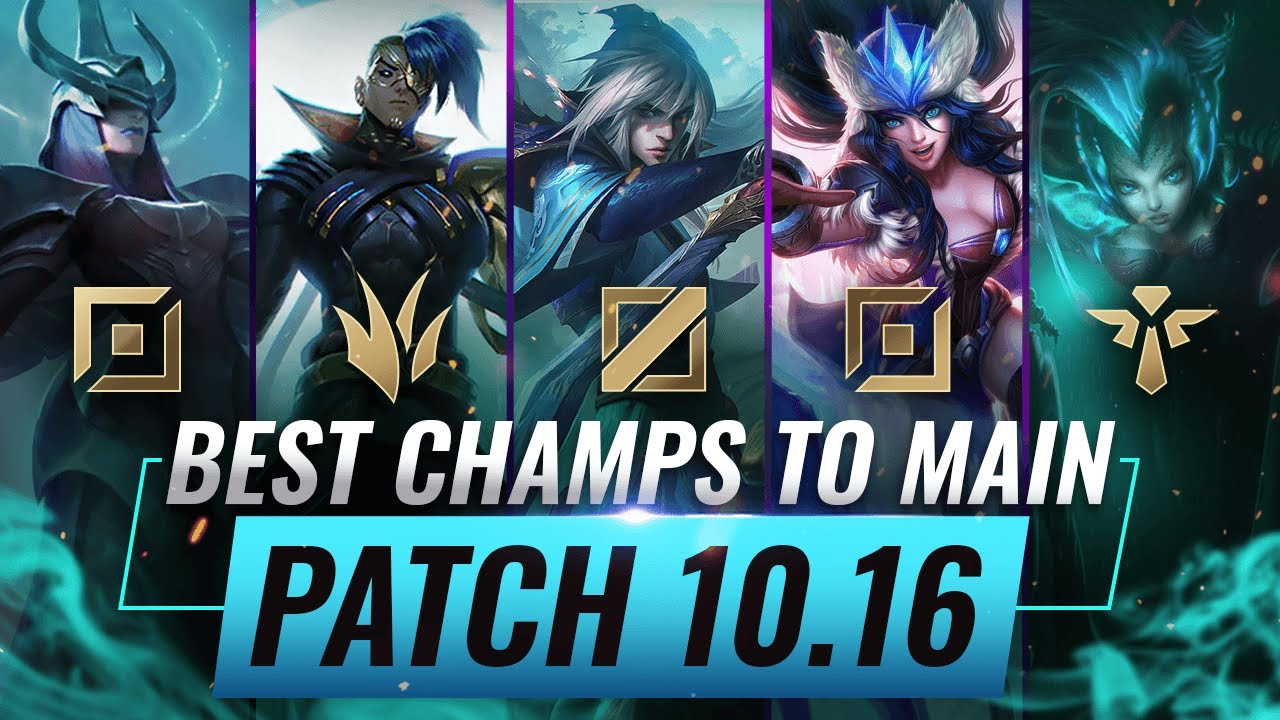 3 Best Champions To Main For Every Role In Patch 10 16 League Of Legends Season 10 Youtube