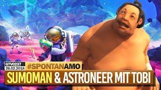 0237 🔴 Der klopsige SUMOMAN & ASTRONEER Multiplayer 🔴 Gronkh Livestream | 26.02.2018