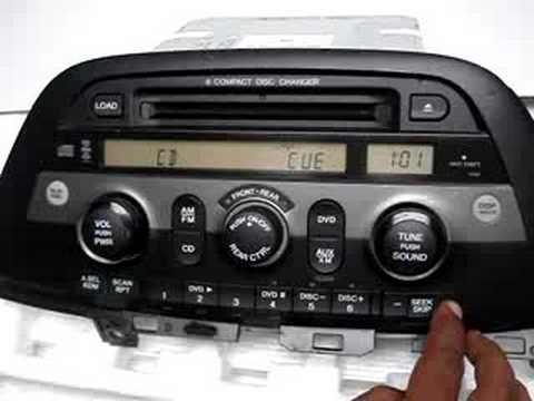 how to get the radio code for honda odyssey