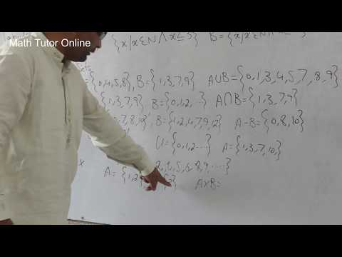 Set Theory Set Representation And Operation On Sets Class 6 To 10 Urdu And Hindi