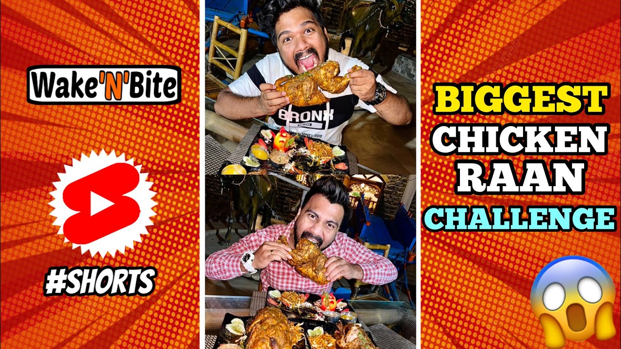 3X BIGGEST CHICKEN RAAN EATING COMPETITION | Food Challenge | Wake'N'Bite #Shorts