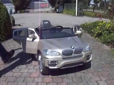 elektrische kinderauto bmw x6 champagne youtube. Black Bedroom Furniture Sets. Home Design Ideas
