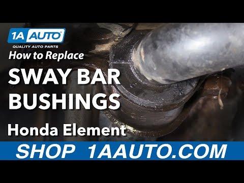 How to Replace Sway Bar Bushings 03-11 Honda Element
