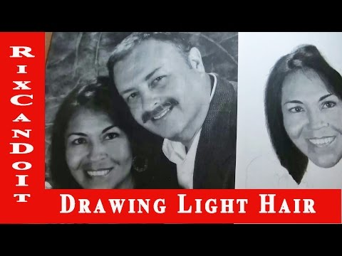 HOW TO DRAW Light Hair in Charcoal and Graphite Drawing tutorial