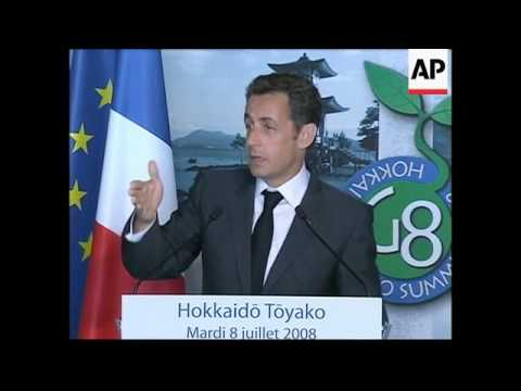 French President Sarkozy gives news conference