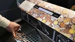Машина за обмяна на монети срещу ваучери за пазаруване