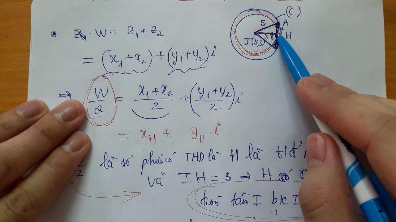 Chữa bài tập Tập hợp điểm biểu diễn số phức (Phần 3 -hết)