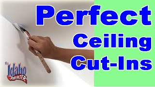 How to to paint a straight line on the ceiling. Tips and a quick de...