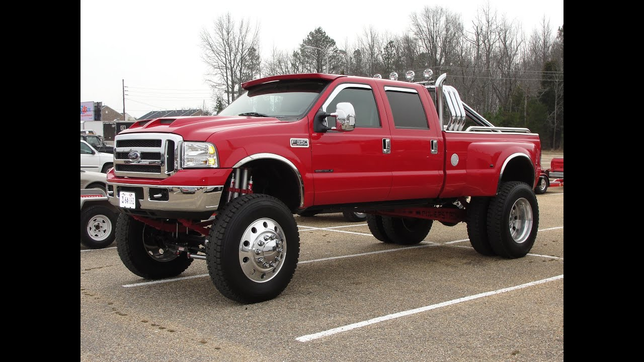 Jacked Ford F 350 Power Stroke Super Duty Diesel Dually