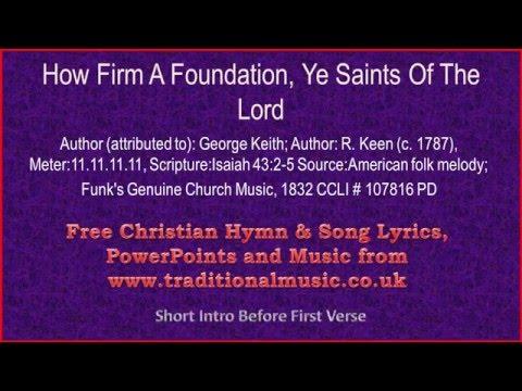 How Firm A Foundation Hymn Lyrics   Believers Portal