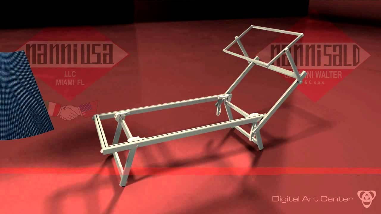 Come Costruire Una Sdraio.Lettino Sdraio Da Spiaggia Mare In Alluminio Youtube