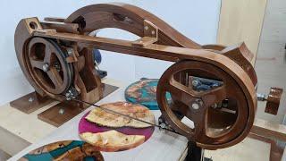 Универсальная ленточная пила из дерева  своими руками/Handmade universal band saw made of wood  p.1